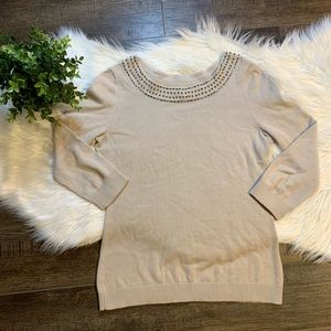 Banana Republic beaded sweater